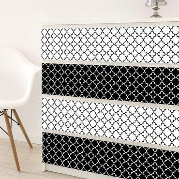 Möbelfolie selbstklebend - Marokkanisches Fliesen Vierpassmuster Set