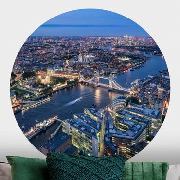 Runde Tapete selbstklebend - Nachts in London