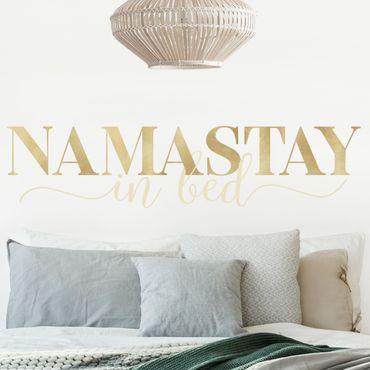 Wandtattoo mehrfarbig - Namastay in bed Gold