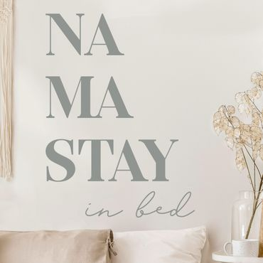 Wandtattoo einfarbig - Namastay in bed