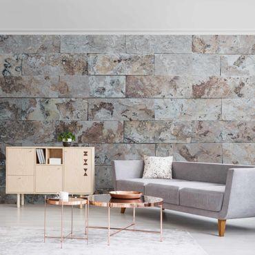 Metallic Tapete  - Naturmarmor Steinwand