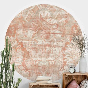 Runde Tapete selbstklebend - Ornamentgewebe I
