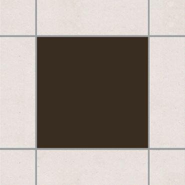 Fliesenaufkleber - Braun