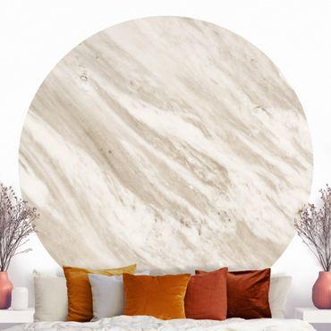 Runde Tapete selbstklebend - Palissandro Marmor Beige
