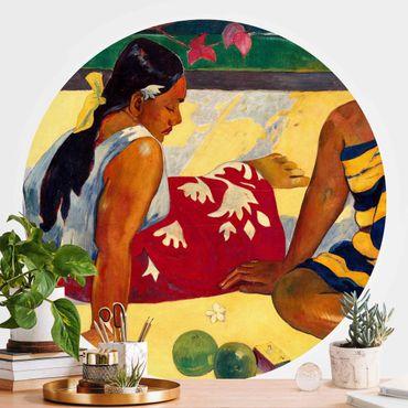 Runde Tapete selbstklebend - Paul Gauguin - Frauen von Tahiti