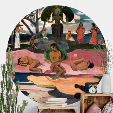 Runde Tapete selbstklebend - Paul Gauguin - Gottestag