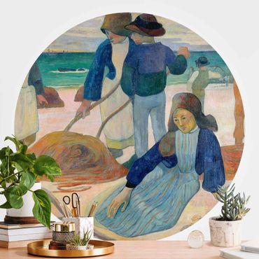 Runde Tapete selbstklebend - Paul Gauguin - Tangsammlerinnen