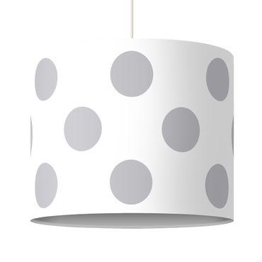 Hängelampe - Punkte Grau auf Weiß