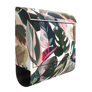 Briefkasten - Pinke Tropen Muster XXL