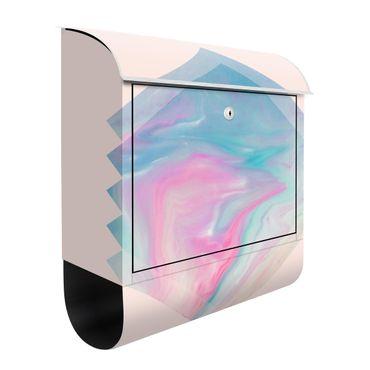 Briefkasten - Pinkes Wasser Marmor