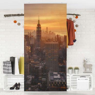 Raumteiler - Manhattan Skyline Abendstimmung - 250x120cm