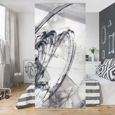 Raumteiler - Sonar Schwarz Weiß I - 250x120cm