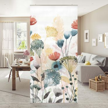 Raumteiler - Wildblumen im Sommer II - 250x120cm