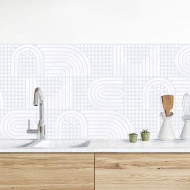 Küchenrückwand - Regenbogenmuster in Weiß