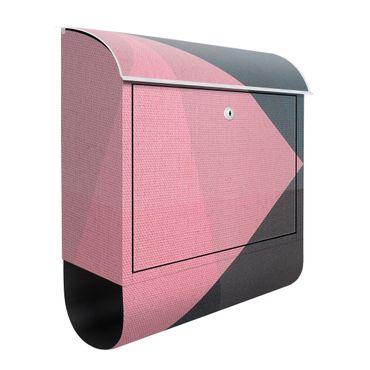 Briefkasten - Rosa Transparenz Geometrie