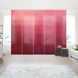 Schiebegardinen Set - Rote Wüste - Flächenvorhang