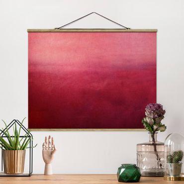 Stoffbild mit Posterleisten - Rote Wüste - Querformat 4:3