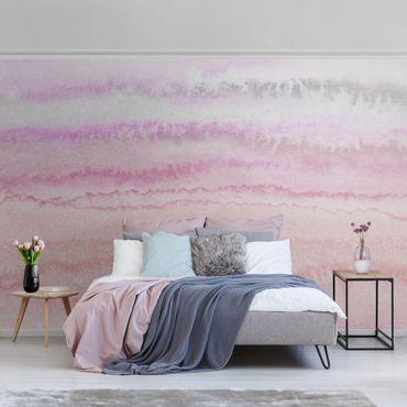 Metallic Tapete  - Spiel der Farben in Pink