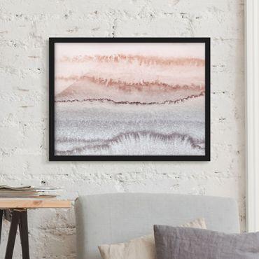 Bild mit Rahmen - Spiel der Farben Meeresrauschen im Nebel - Querformat