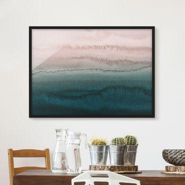 Bild mit Rahmen - Spiel der Farben Meeresrauschen - Querformat