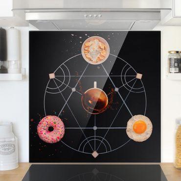 Spritzschutz Glas - Alchemie des Frühstücks - Quadrat 1:1