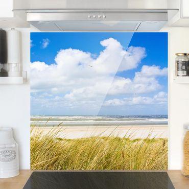 Spritzschutz Glas - An der Nordseeküste - Quadrat 1:1