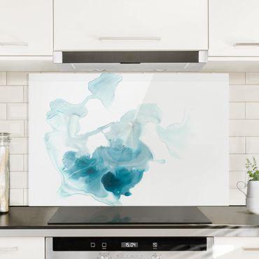 Spritzschutz Glas - Aquamarin im Dunst I - Querformat 2:3