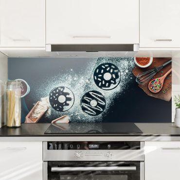 Spritzschutz Glas - Backrezept Donuts - Panorama