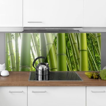 Spritzschutz Glas - Bamboo Trees - Panorama Quer