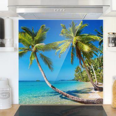 Spritzschutz Glas - Beach of Thailand - Quadrat 1:1