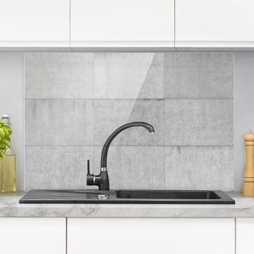 Spritzschutz Glas - Beton Ziegeloptik grau - Quer 3:2