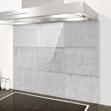 Spritzschutz Glas - Beton Ziegeloptik grau - Quer 4:3