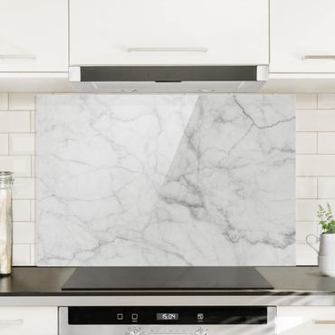 Spritzschutz Glas - Bianco Carrara - Quer 3:2