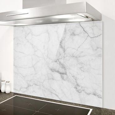 Spritzschutz Glas - Bianco Carrara - Quer 4:3