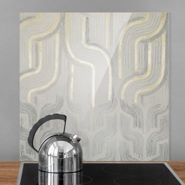 Spritzschutz Glas - Chenille II - Quadrat 1:1