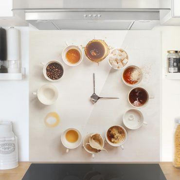 Spritzschutz Glas - Coffee Time - Quadrat 1:1