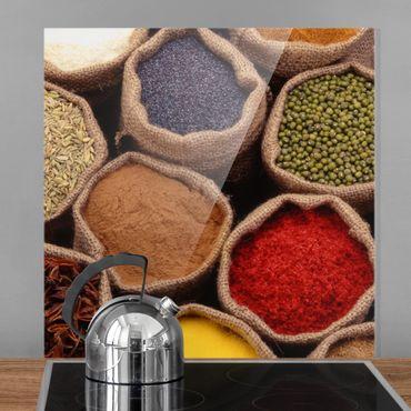 Spritzschutz Glas - Colourful Spices - Quadrat 1:1