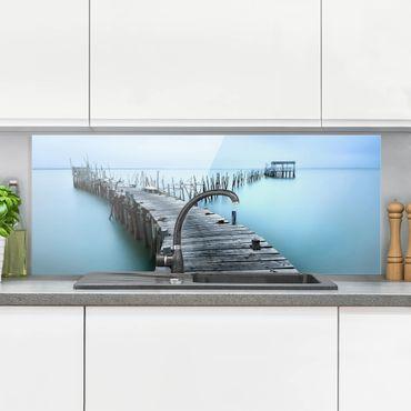 Spritzschutz Glas - Der Hafen von Carrasqueira - Panorama
