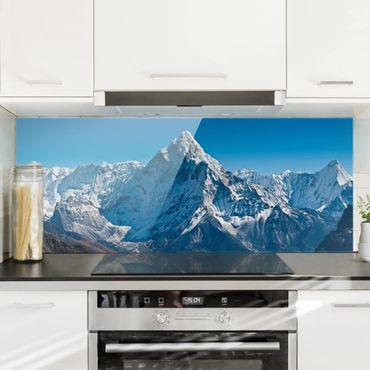 Spritzschutz Glas - Der Himalaya - Panorama Quer