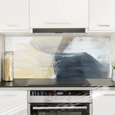 Spritzschutz Glas - Dreiklang mit Tigerauge I - Panorama
