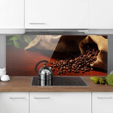 Spritzschutz Glas - Dulcet Coffee - Panorama Quer