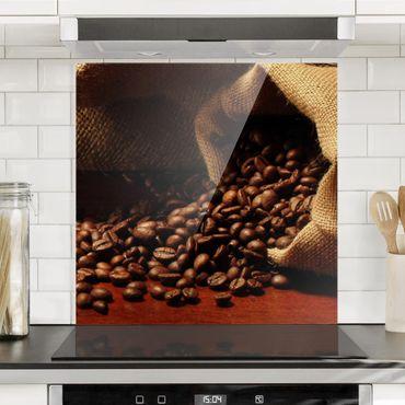 Spritzschutz Glas - Dulcet Coffee - Quadrat 1:1