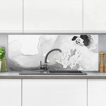 Spritzschutz Glas - Dunst und Wasser II - Panorama