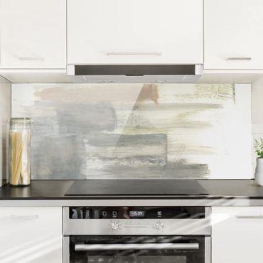 Spritzschutz Glas - Ein Hauch von Pastell II - Panorama