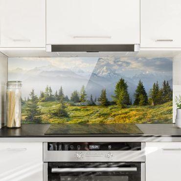 Spritzschutz Glas - Émosson Wallis Schweiz - Panorama