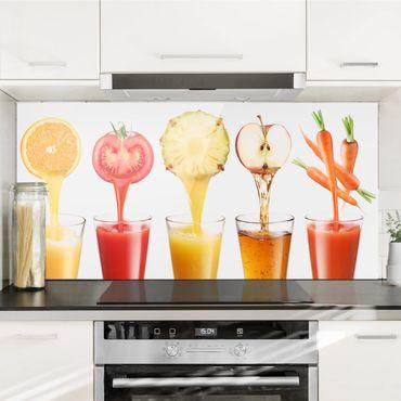Spritzschutz Glas - Frisch gepresst - Quer 2:1
