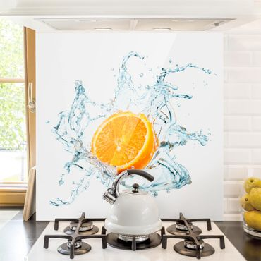 Spritzschutz Glas - Frische Orange - Quadrat 1:1