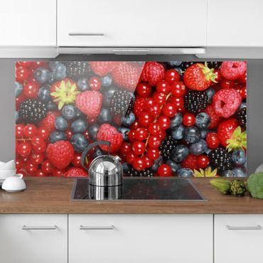 Spritzschutz Glas - Fruchtige Waldbeeren - Quer 2:1