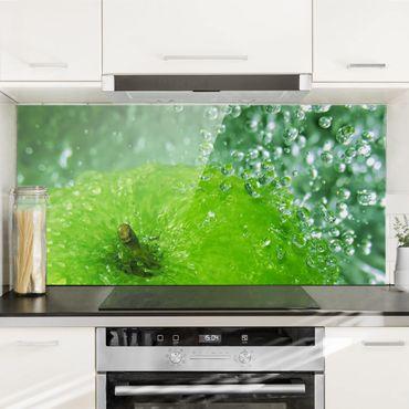 Spritzschutz Glas - Green Apple - Quer 2:1