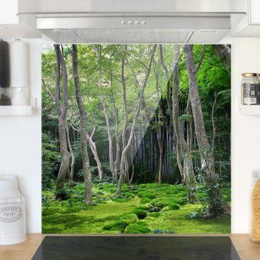 Spritzschutz Glas - Growing Trees - Quadrat 1:1